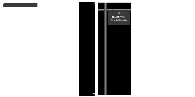 Example of new Single Pole signage