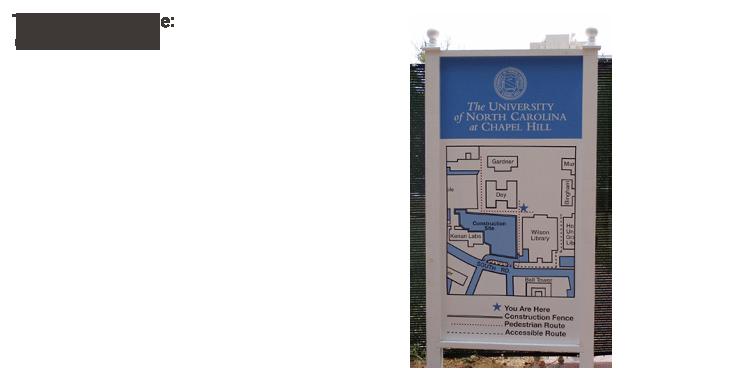Temporary construction signage
