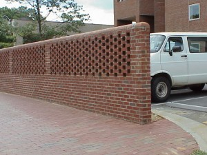 Wall Behind Davis Library