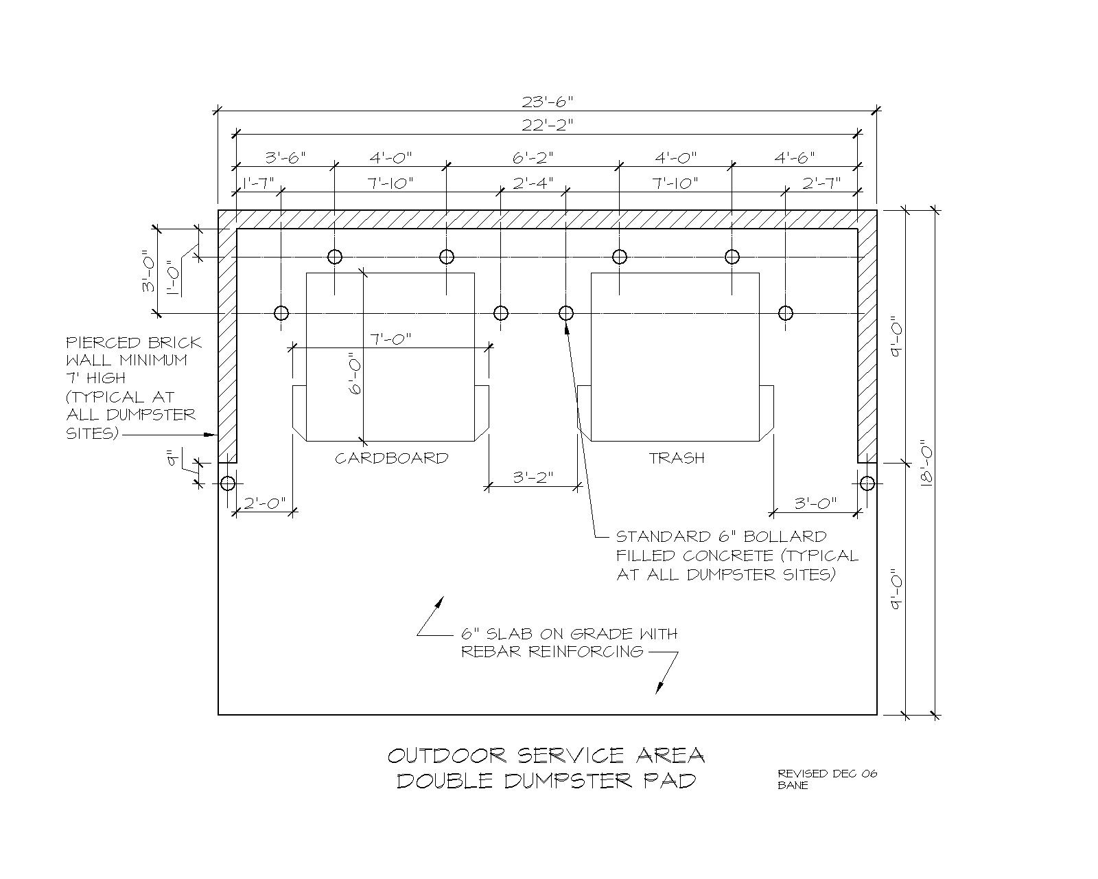 Outdoor Service Areas Facilities Services Wiring Codes Pad Dimensions
