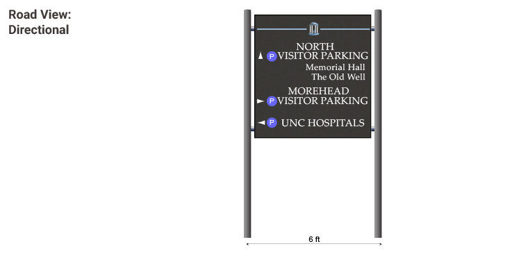Example image of new Directional signage