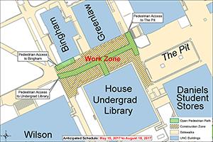 Pit Sidewalk Improvements Map