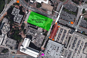 Crane Removal - West Drive Map