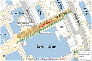 Lenoir Drive Resurfacing Map