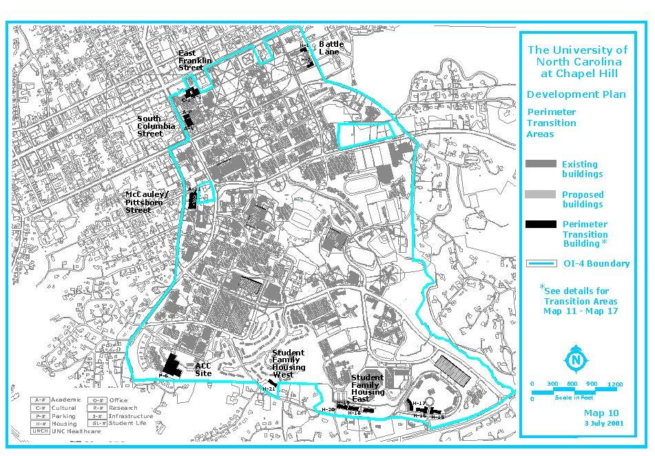 Perimeter Transition Areas Map