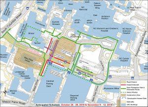 Manning Drive Closure Pedestrian Detours