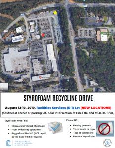 Styrofoam Recycling Drive 2019