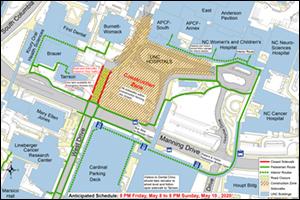 West Drive Closure Map