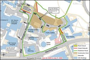 Paul Hardin Drive Closure Map