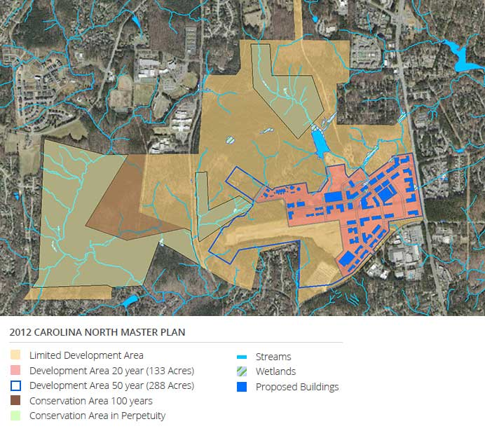 2012 Carolina North Master Plan Map