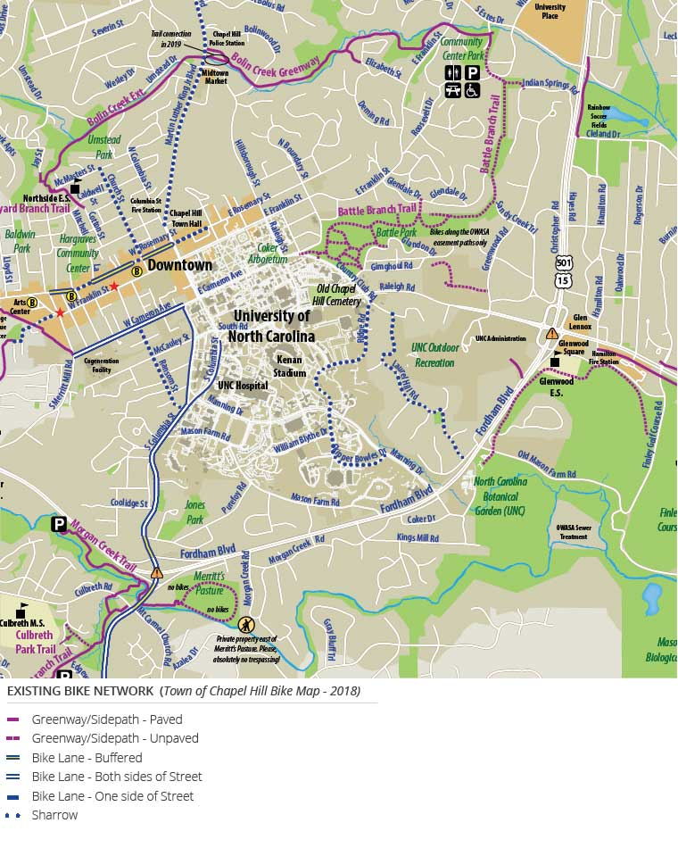 Existing Bike Network Map