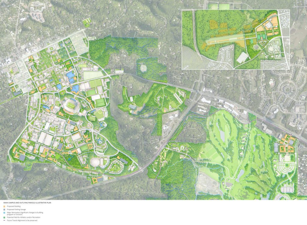 Main Campus and Outlying Parcels Illustrative Plan Map