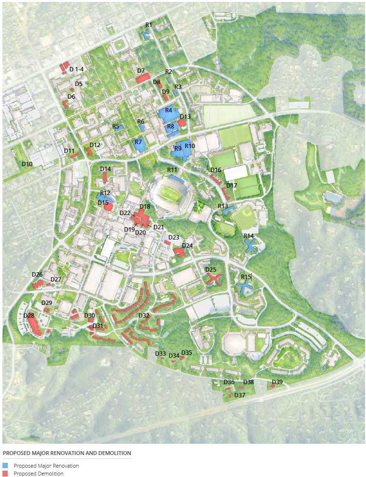Proposed Major Renovation and Demolition Map