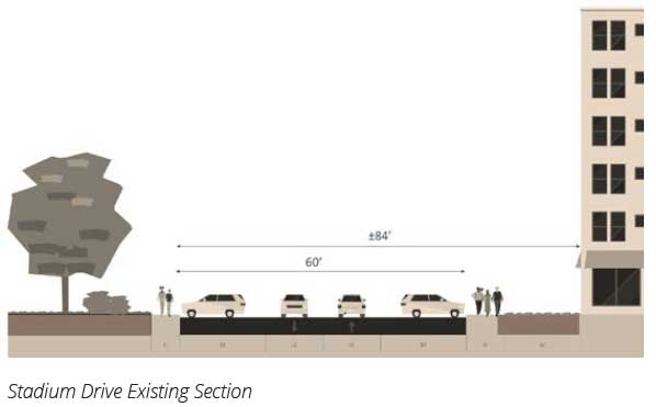 Stadium Drive Existing Section