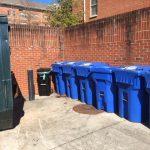 Residence hall compost carts - black
