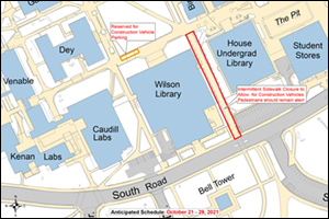 Wilson and Undergraduate libraries sidewalk impact map